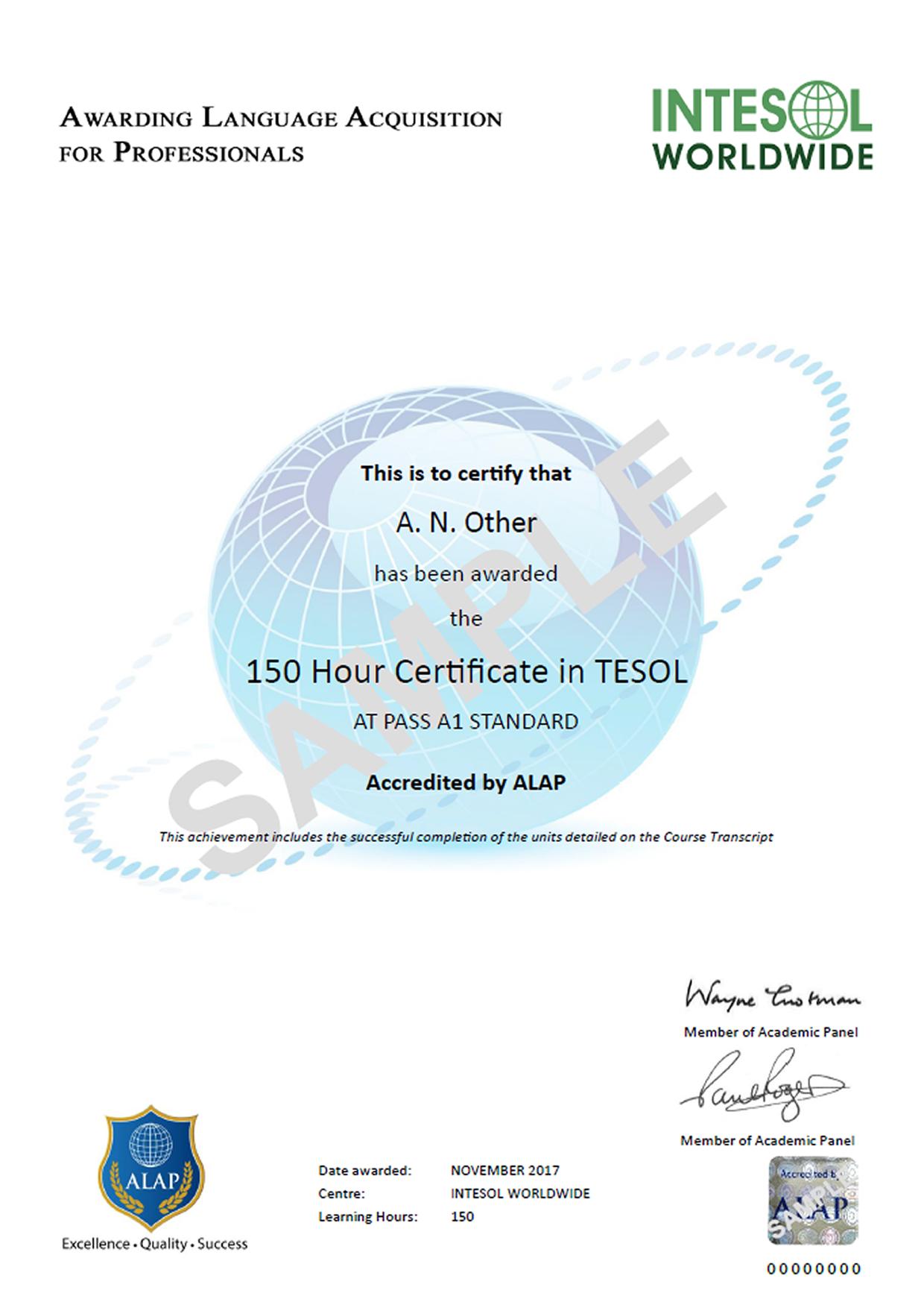 150 hour online tesol course japan