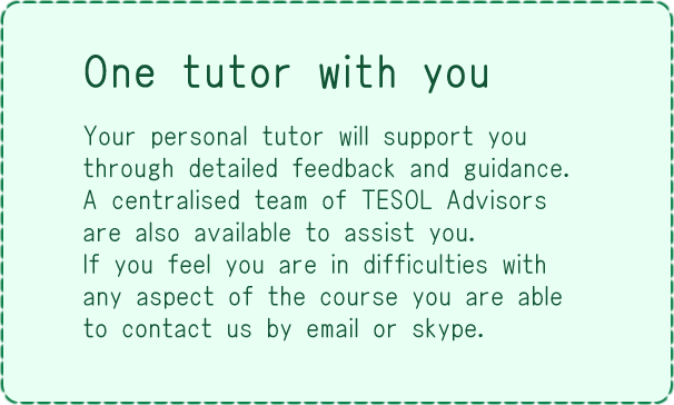 Your personal tutor will support you.